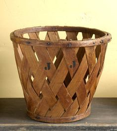 Antique peach basket