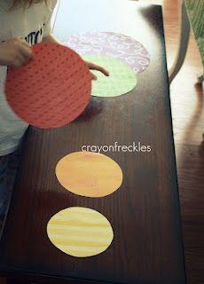 rainbow circle sorting #crayonfreckles