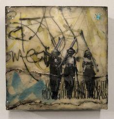 Part of kickass women series. Encaustic mixed media. www.shaunminne.com Mixed Media, My Arts, Collage, People, Painting, Women, Women's, Paintings, Draw