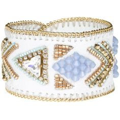 Buba London Tanav Cuff (435 BRL) ❤ liked on Polyvore featuring jewelry, bracelets, accessories, pulseras, leather jewelry, cuff bangle, leather bangles, buba and leather cuff jewelry