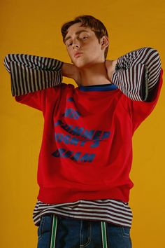 Styling lookbook Mid summer night t-shirt in red layered www.adererror.com