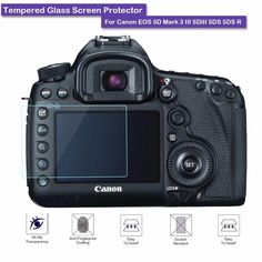 9H Hardness Premium Tempered Glass LCD Screen Protector Shield Film For Camera Canon EOS 5D MKIII/5D MK IV/5DS/5DSR Accessories #CLICK! #clothing, #shoes, #jewelry, #women, #men, #hats