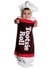 Cute Tootsie Roll costume for babies! :)