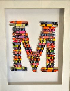 buy crayola letter art from the letteroom weve created a unique handmade artwork in any letter of your choice using crayola crayons