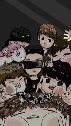 방탄소년단 팬아트 배경화면 : 지식iN