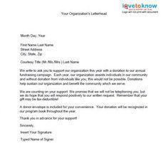 Event Sponsorship Letter  Fundraising