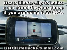 Phone GPS for the car, life hack