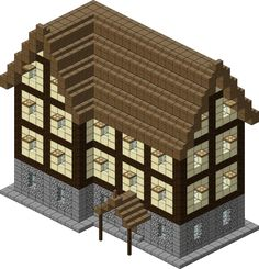 Medieval Village Large Inn by spasquini on DeviantArt