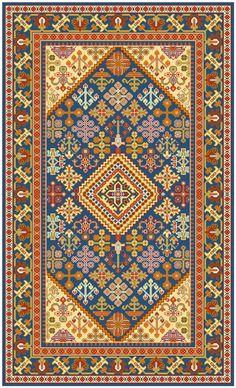 diseño oriental con flores para una alfombra de 1m x 1,5 m  Persian Maimeh, central Iran 3' X 5'