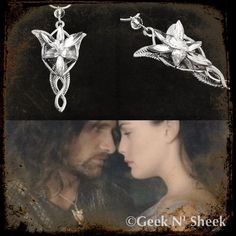Lord of the Rings Arwen's Evenstar princess elf necklace