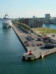 Langelinie, Copenhagen,,yes its where the big cruise ships are sailling from to the rest of the world...like