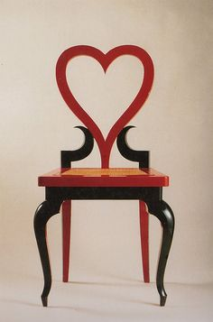 Emilio Terry chair c.1948.  Terry was a Cuban artist + designer known for his career in France. #EmilioTerry #HeartChair #FrenchMidCentury