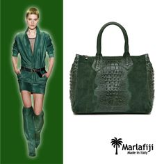 Go green with envy heart emoticon The Jojo Green Croc Embossed bag is our Monday muse... perfect match with Barbara Bui fashion ladies.. GREEN is the colour of prosperity, nature, and autumn... heart emoticon Feeling green? Grab it here: http://marlafiji.com/…/jojo-moss-green-italian-leather-hand… FREE SHIPPING WITHIN AUSTRALIA #marlafiji #greenbag #italianleather #italianhandbag #barbarabui