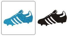Sjabloon Glittertattoo `Voetbalschoen`
