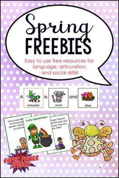 Tons of great freebies for SLPs!