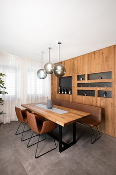 haus s - Möbelbau Breitenthaler, Tischlerei | @ elena egger Modern, Conference Room, Dining, Space, Furniture, Home Decor, Carpentry, Natural Stones, Dinner Table