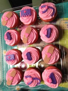 Doc McStuffins Cupcakes made by  Cg Ramirez for my daughters birthday party.