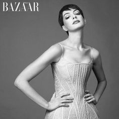 アン・ハサウェイ Anne 雑誌Bazaar2013年2月号U.K版の表紙モデル の画像|海外セレブファッション通信 - 画像・動画 -