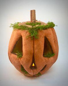 Halloween Jack O Lantern  Halloween home decor  Prim Pumpkin