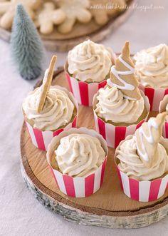 Rezept Bratapfel Cupcakes mit Spekulatius Topping