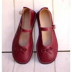 Mary Jane Red Bordeaux