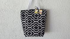 Black White Purse Beach Tote Bag