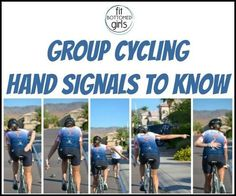 Official FBG Guide to Group Cycling Do you know your group cycling hand signals? We've got what you need to know before a group bike ride!Do you know your group cycling hand signals? We've got what you need to know before a group bike ride! Cycling Motivation, Cycling Quotes, Cycling Tips, Cycling Workout, Road Cycling, Bike Workouts, Swimming Workouts, Swimming Tips, Cycling For Beginners