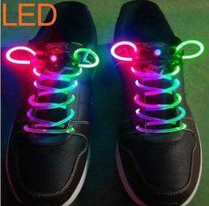 Amazon.com: AGPtek Pink-Blue 3 Mode LED Light Up Shoe Shoelaces Shoestring Flash Glow Stick Strap For Party Hip-hop Skating Running Cosplay Decoration: Shoes