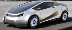 The 2015 Toyota Prius Concept car, with an all-glass roof.