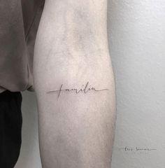 Cursive Tattoos, Word Tattoos, Mini Tattoos, Tattoo Fonts, Body Art Tattoos, Tatoos, Small Quote Tattoos, Family Tattoos, Tattoos For Women Small