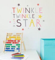 Children's Pastel Twinkle, Twinkle Wall Sticker