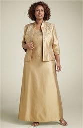 Details about Mother Of The Bride Jacket Dress XL Plus Size Modest ...