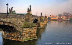 Charles Bridge in Prague. Full photo here: http://www.silentlandscapes.com/charles-bridge