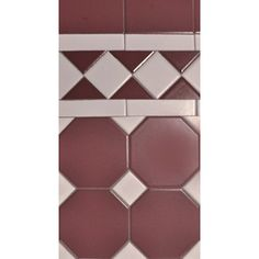 Octagon vanilla and burgundy dot 100 x 100mm with 120mm norwood border and filling 100 x 100mm