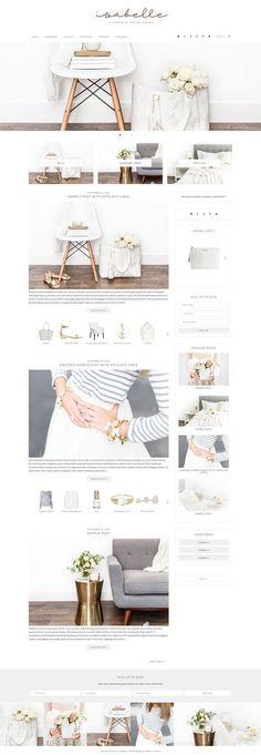 Isabelle - E-Commerce Theme by Bella Creative Studio on @creativemarket Está farto de procurar por templates WordPress? Fizemos um E-Book GRATUITO com OS 150 MELHORES TEMPLATES WORDPRESS. Clique aqui http://www.estrategiadigital.pt/150-melhores-templates-wordpress/ para fazer download imediato!