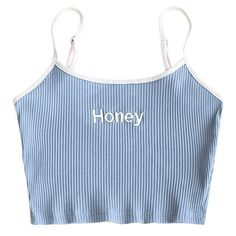 Cool Honey Embroidery Camis Women 2018 Sleeveless Basic Tank Tops Short Ribbed Cropped Bustier Tops Click Pic for the Hottest Lingerie Online Cute Crop Tops, Cami Tops, Cropped Tank Top, Crop Tops For Girls, Tight Crop Top, Crop Tank, Crop Top Outfits, Cute Casual Outfits, Summer Outfits