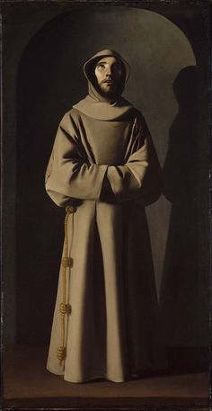 Saint Francis by Francisco de Zurbaran, Mystery of History Volume Lesson 64 Spanish Painters, Spanish Artists, Catholic Art, Catholic Saints, Caravaggio, Religious Images, Religious Art, Mystery Of History, Art History