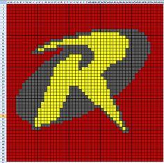 Robin x-stitch