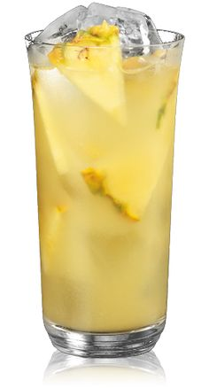 Coconut and Pineapple Rum Cocktail