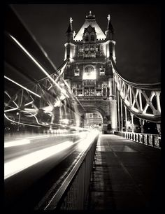 The (obligatory) photo of the night bus on Tower Bridge  by HAKAN STRAND