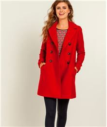 GDM - Manteau femme pardessus couleur lainage