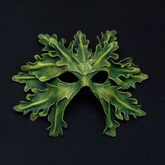 Greenman Mask - Artist Unknown - I would love to have this in fall colors for my Halloween costume.