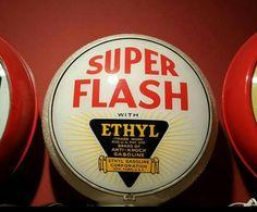 Original Super Flash Ethyl Gas Globe - Clear Gill Ripple Body
