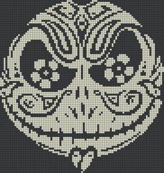 Jack Skellington Sugar Skull Perler Bead Pattern