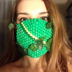 Accessories - Poison ivy inspired kandi mask