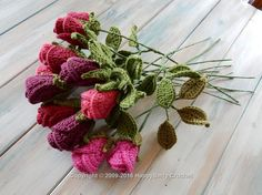 Realistic Crochet Roses