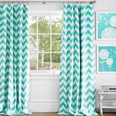 #mint chevron drapes  http://rstyle.me/n/jk7h9pdpe