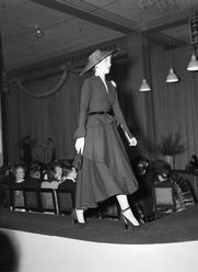 Christian Dior fashion parade at David Jones in Sydney, July 31 1948.