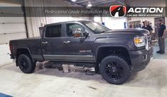"""This GMC from our Edmonton, AB location is complete with: 4"""" lift kit by Fabtech Motorsports Front/Rear Precision Kick Backs Ginelli GN3000 tires Vapour wheels by Fuel Flex tonneau cover by UnderCover"""