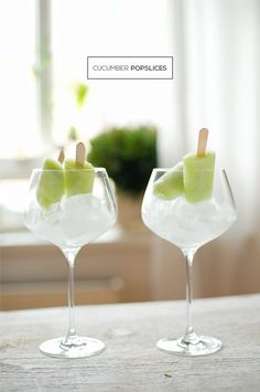 Cucumber Popsicles